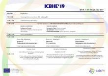 Agenda of ICBHE 2019 - DAY 1