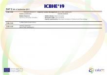 Agenda of ICBHE 2019 - DAY 2